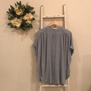 [Urban Outfitters] Silence + Noise Blue Blouse